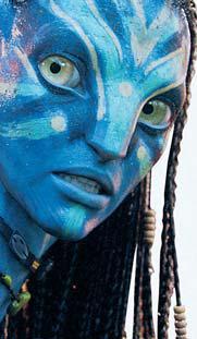 "Zoe Saldana es Neytiri en ""Avatar."""